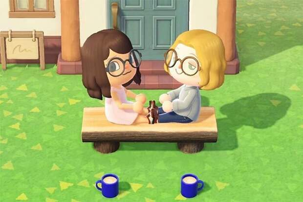 Жених и невеста на карантине воссоздали свои помолвочные фото в игре Animal Crossing
