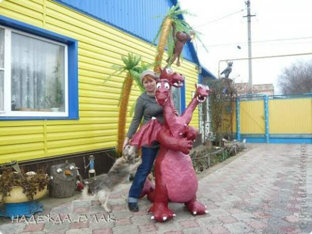 Змей-Горыныч для сада. Мастер-класс