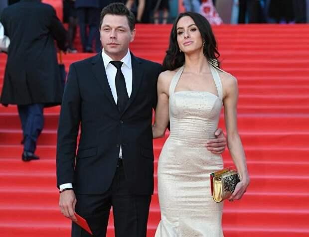Михаил Дорожкин со своей спутницей на Московском кинофестивале, 2017 год