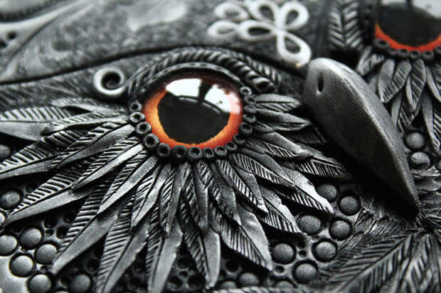 Глаз совы. Работа Анико Колесниковой.