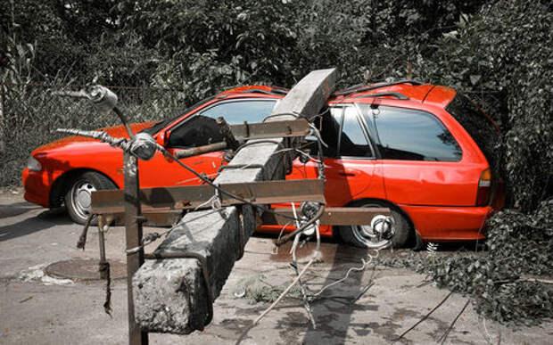 На машину упало дерево, столб, билборд... С кого получать компенсацию?