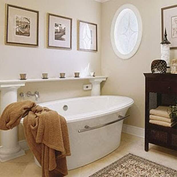 используйте мебель в ванной комнате