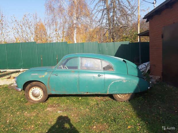 В Коломне нашли редкий заднемоторный Tatra 600 Tatraplan, простоявший 35 лет в гараже