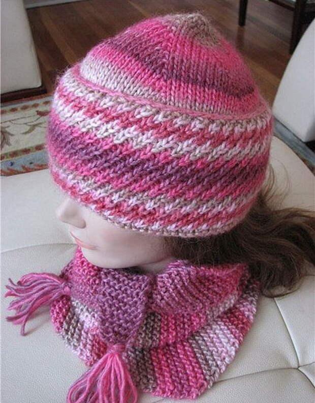 Три красивые теплые шапочки