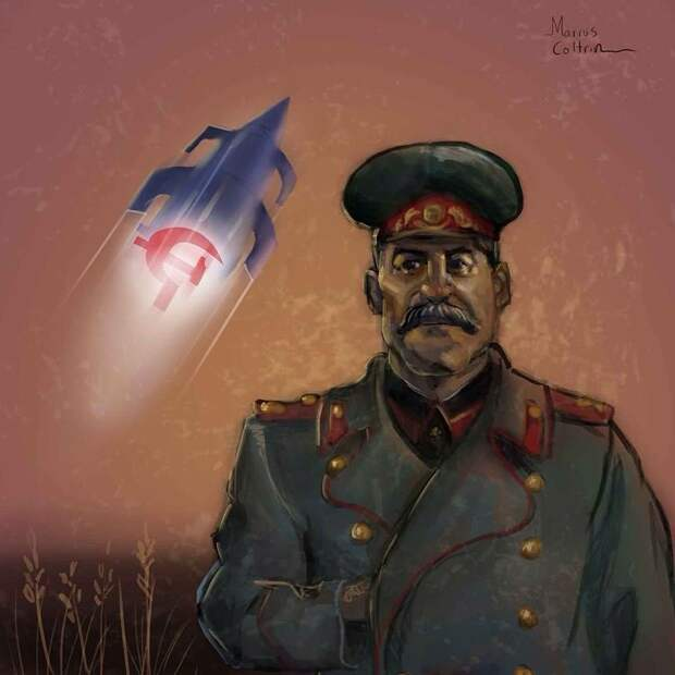 "Stalin for Time"" by Marcus Coltrin #stalin #space #propaganda #russian  #soviet… 