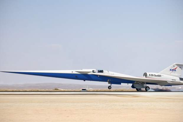 Прототип сверхзвукового Х-59 для NASA был изготовлен с использованием деталей бывших в употреблении