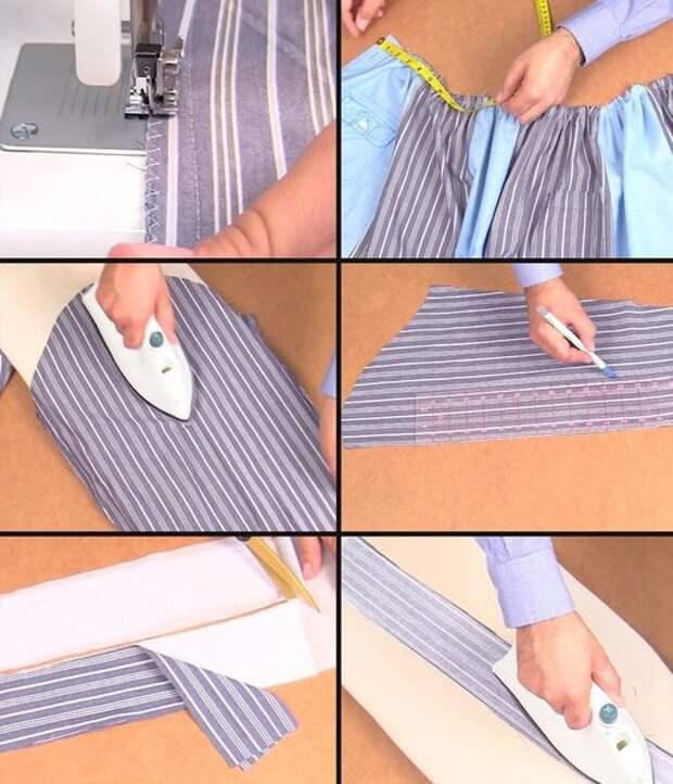 Юбка из двух рубашек (МК)