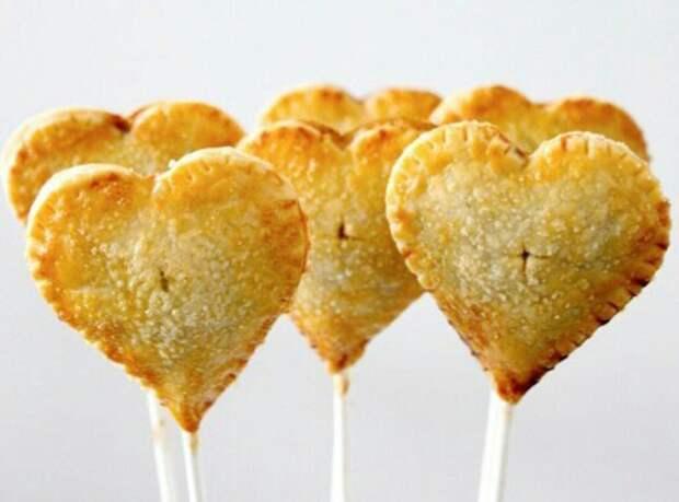 Съедобные Валентинки на палочках (diy)