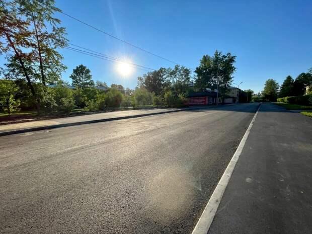 Ремонт дороги по проспекту Петра Красильникова в Шелехове выполнен на 70%