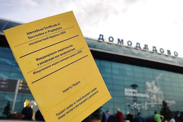 Аэропорт «Домодедово» начал выдавать желтый паспорт вакцинации на английском языке