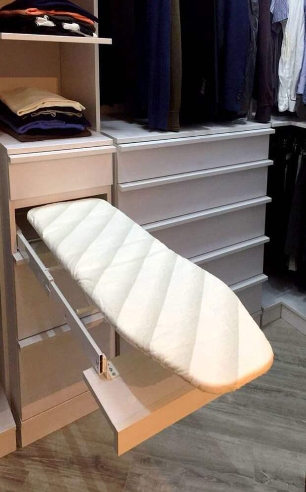 Идеи для хранения гладильной доски. Или 10 мест, где можно спрятать гладильную доску, фото № 34