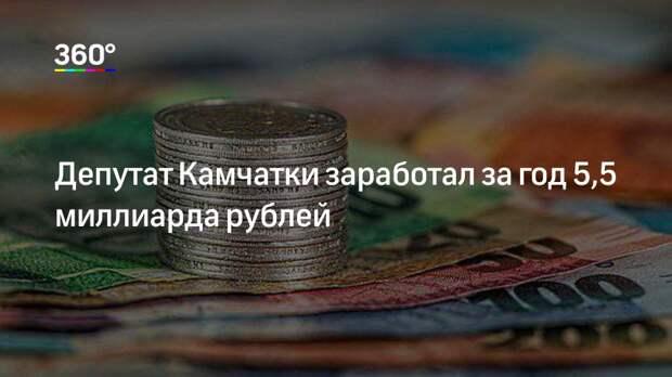 Депутат Камчатки заработал за год 5,5 миллиарда рублей