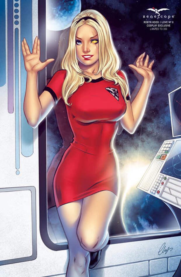 Откровенные облики героинь из комиксов и мультфильмов