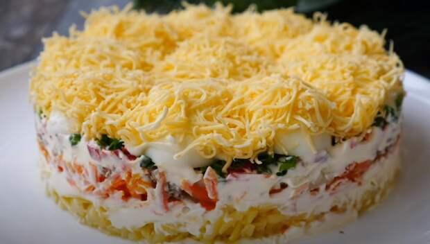 Салат «Сугробы» на праздничный стол. Вкусный и красивый салат на праздник