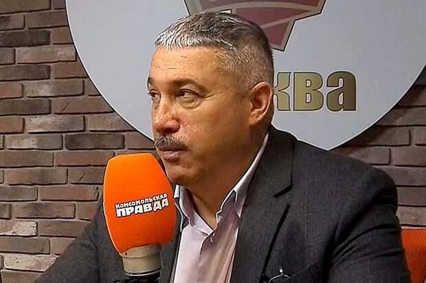 Михаил Юрьев в студии программы «Главтема» на Радио «Комсомольская правда»
