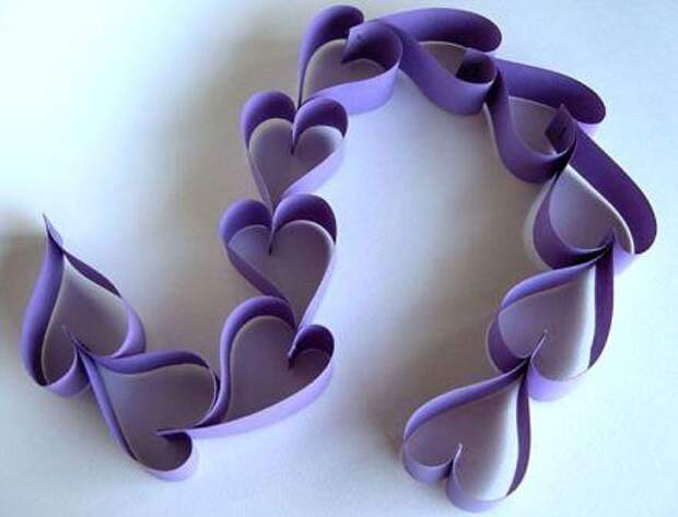 САМОДЕЛКИ. Поделки из бумажных сердечек