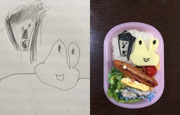 Бенто по детским рисункам