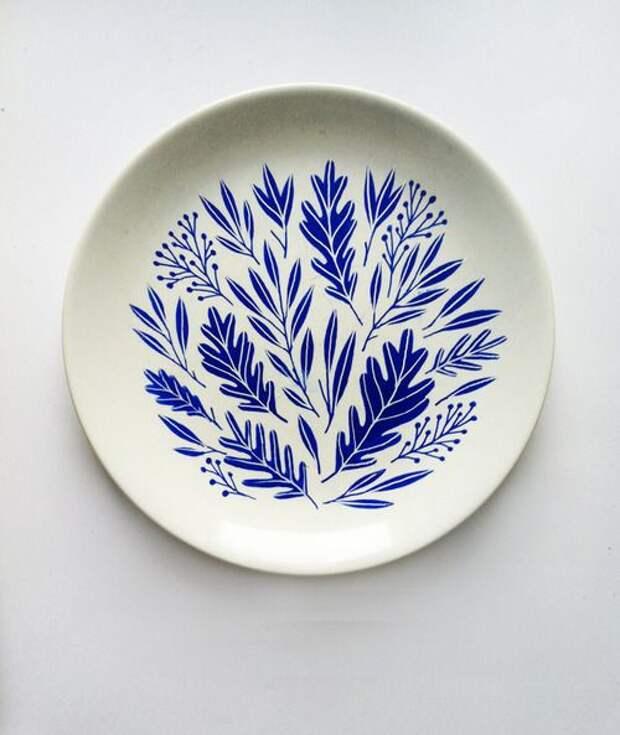 Посуда с интересными рисунками (трафик)
