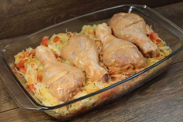 Приготовила я вчера это блюдо с курицей и тут началось…Все просили добавки по 2 раза