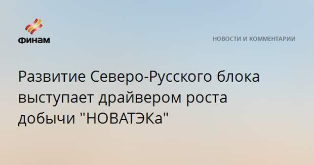 """Развитие Северо-Русского блока выступает драйвером роста добычи """"НОВАТЭКа"""""""