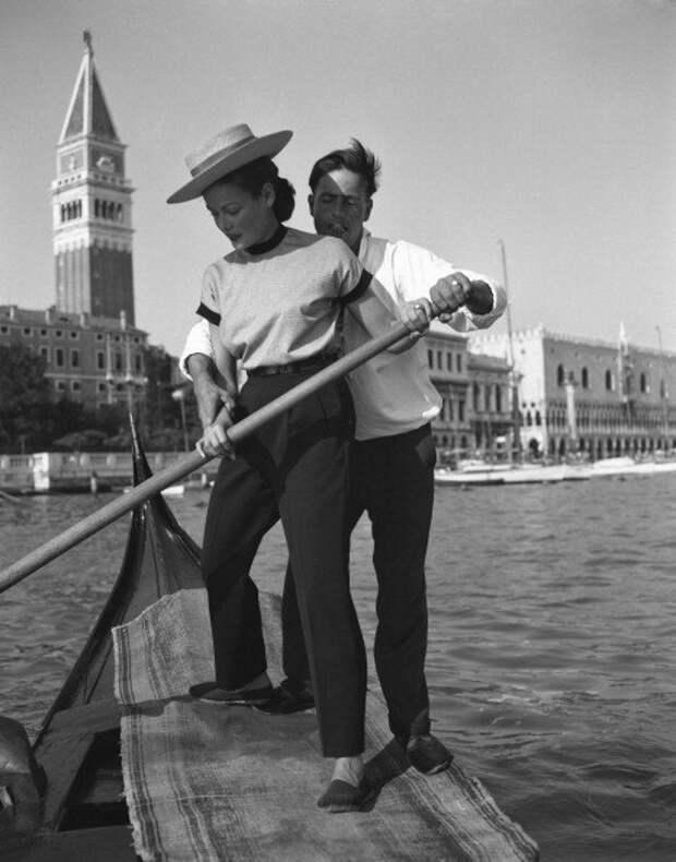 Джин Тирни в Венеции. 1951 год.