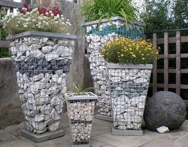 Декор двора при помощи камушков