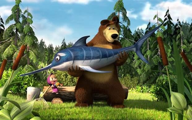 На экраны кинотеатров Великобритании вышел мультфильм «Маша и Медведь»