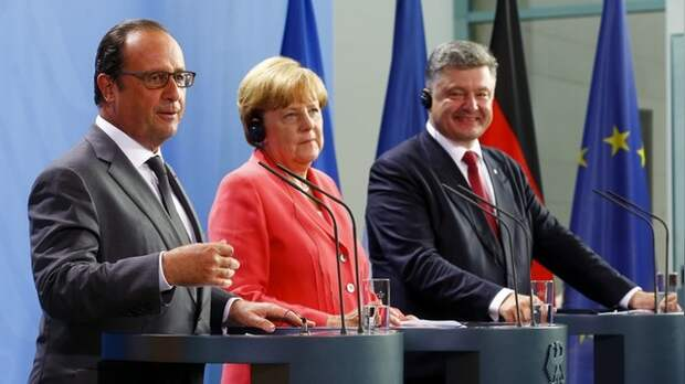 112: Порошенко договорился с Меркель и Олландом о продлении санкций против РФ