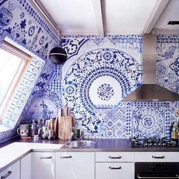 красивая мозаика на кухне