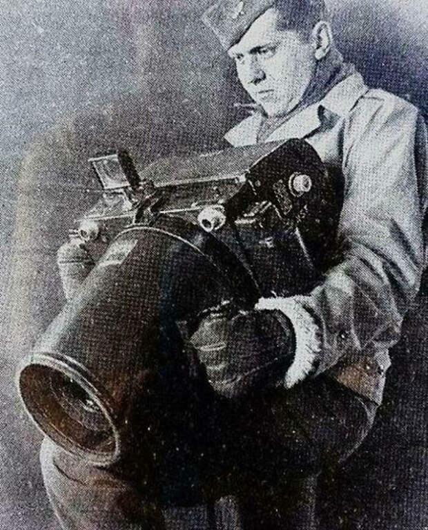 Камера Kodak K-24, использовавшаяся американцами для аэрофотосъемки во время Второй мировой войны.