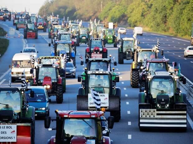 Фермеры блокируют дороги во Франции