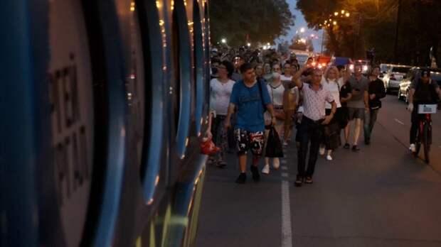 В Хабаровске жители в 46-й раз вышли на акцию в поддержку Фургала