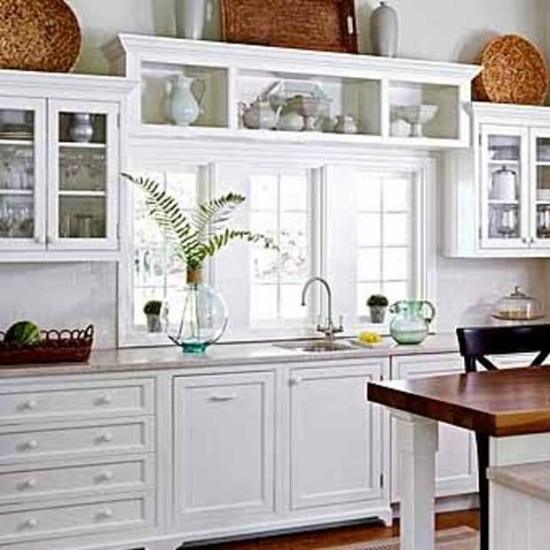 идеи для организации рабочей поверхности возле кухонного окна