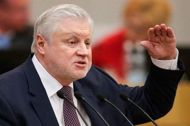 Сергей Миронов назвал голосование за повышение пенсионного возраста аморальным и неэтичным