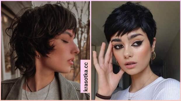 Короткие темные волосы 2021: эффектные и модные идеи (+15 фото)