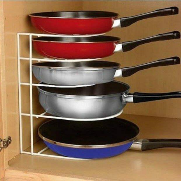 Проволочная подставка для сковородок.