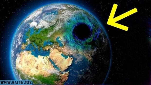 В центре Земли находится черная дыра