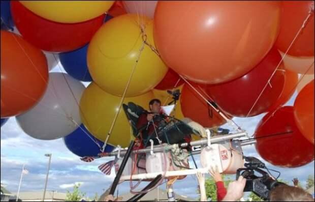 История про путешествие в кресле на воздушных шариках (баянище, но сколько перечитываю, все равно смеюсь)