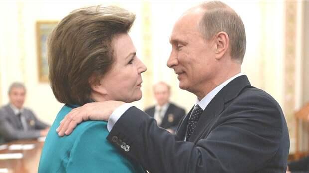 У Терешковой и Путина-теплые отношения.