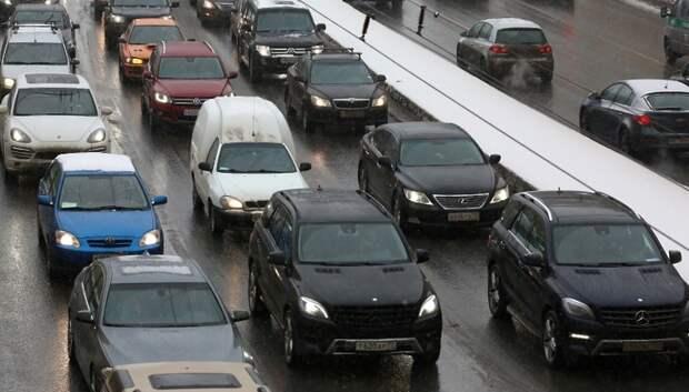 В Подольске на трассе А‑107 образовалась пробка длиной около 5 километров