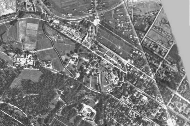 Фрагмент немецкого аэрофотоснимка города Пушкина, сделанного 15 августа 1939 г.