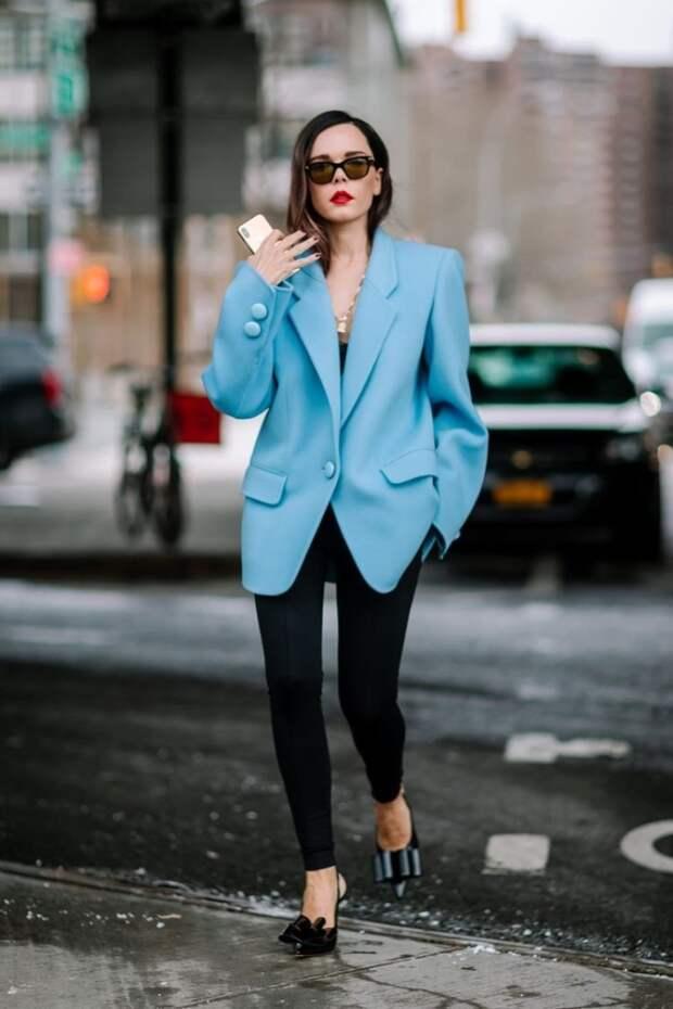 Как носить пиджак оверсайз