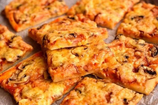 Пирог-пицца — быстрая, вкусная и сытная выпичека