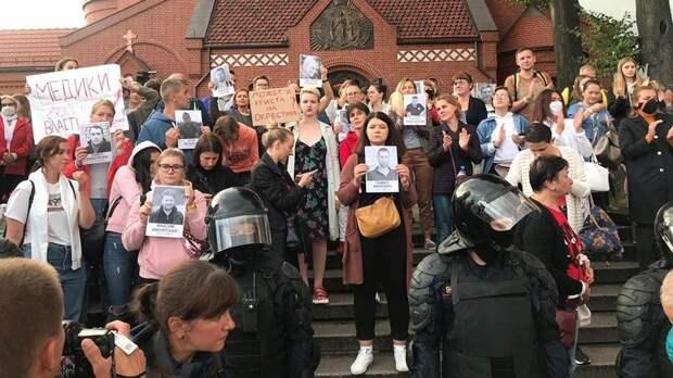 Украина  на фоне протестов приостановила все контакты с Белоруссией
