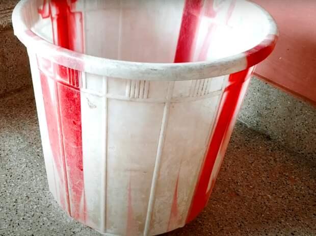 Как за 1 минуту заделать трещину на пластиковом ведре, тазу или горшке