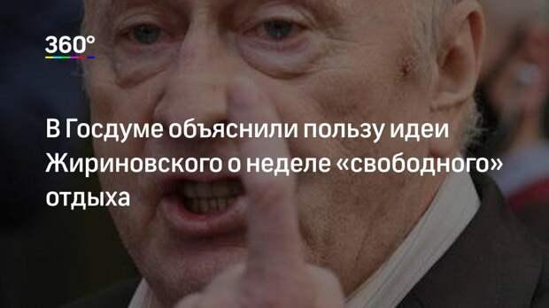 В Госдуме объяснили пользу идеи Жириновского о неделе «свободного» отдыха