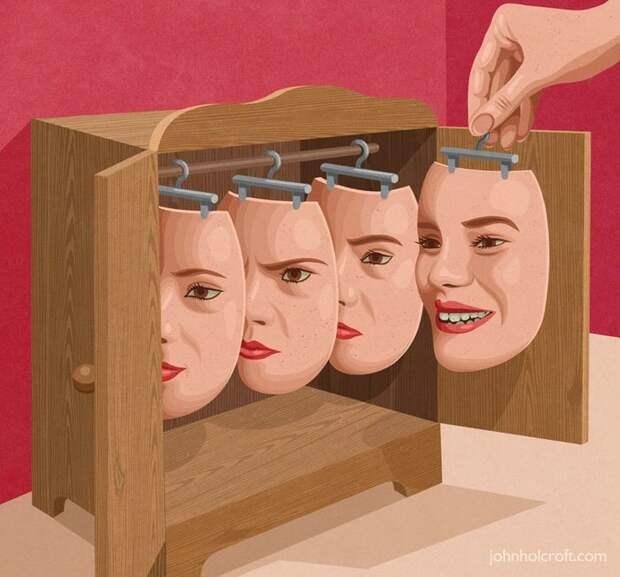 Жестокая реальность в иллюстрациях Джона Холкрофта