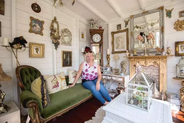 Мама сделала из старого сарая микро-особняк, чтобы укрыться в нем от мужа и детей