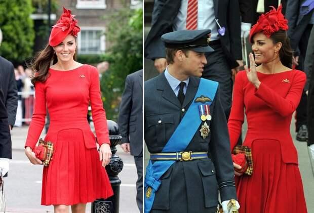 Кейт Миддлтон во время парада кораблей по Темзе 3 июня 2012 года в Лондоне, Англия. / Фото: gulegulegiy.com