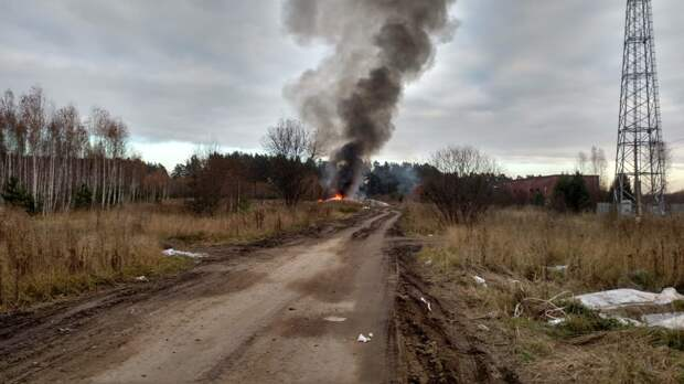 В Томске загорелась стихийная свалка
